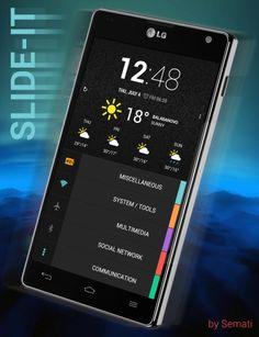 Slide-it Android Theme, Homescreen, Phone, Design, Art, Art Background, Telephone, Kunst