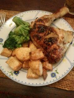 Pollo asado con miel - Recetízate