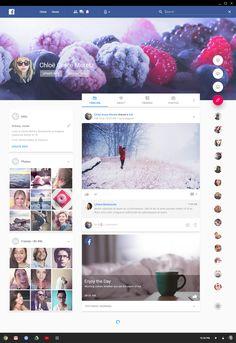 Facebook in material design – MaterialUp