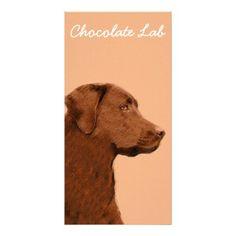 #Labrador Retriever (Chocolate) Card - #labrador #retriever #puppy #labradors #dog #dogs #pet #pets