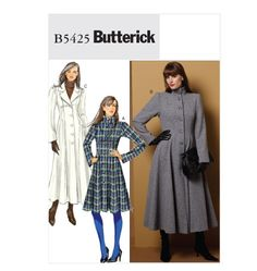 Misses'/Misses' Petite Coat - butterick 5425 Butterick Sewing Patterns, Neutral Outfit, Retro Pattern, Coat Patterns, Wool Suit, Sewing Clothes, Winter Outfits, Undertaker Cosplay, Women