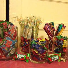 party: candy necklaces, warheads, ring pops-- needs jolly ranchers, fun dip, pop rocks for a candy bar at the reunion 30th Birthday Parties, Birthday Party Themes, 90s Theme Party Decorations, 2000s Party, Fun Dip, Party Like Its 1999, Party Candy, Party Treats, Ring Pops