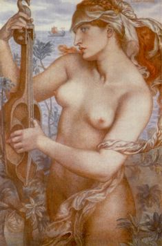 Ligeia Siren - Dante Gabriel Rossetti - Watercolor on paper c. 1873. ARC