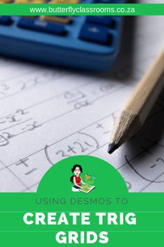 How to create custom Trig grids in Desmos - Butterfly Classrooms Math Teacher, Teaching Math, Learning Activities, Maths, Trigonometry Worksheets, Math Software, Snipping Tool, Exam Papers, Math Groups
