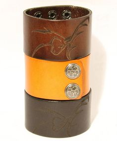Engraved leather bracelet laser engraved by trueheartleather, $15.99