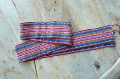 Colombian Chumbes Fabric Belt - Rainbow