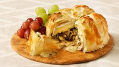 Shiitake-Stuffed Brie in Puff Pastry - Recipes - Best Recipes Ever - Stagger baking times for each wrapped Brie to ensure a fresh warm one is ready to go when guests devour the first.