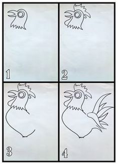 Pâques: À la manière de Jean Dallaire, le coq licorne, art Coqs, Collage, Calligraphy, Diy, Arts Plastiques, Unicorn, Animaux, Dibujo, Collages