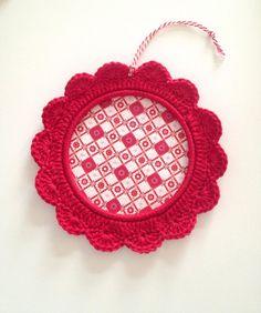 RED crochet frame