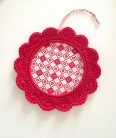 RED crochet frame