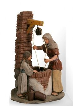 FIGURAS BELEN DE JOSE LUIS MAYO LEBRIJA (éste lo tengo) Christmas Nativity Scene, Christmas Carol, All Things Christmas, Brick Works, Medieval Houses, Cartoon Books, Modelos 3d, Nativity Crafts, Ceramic Houses