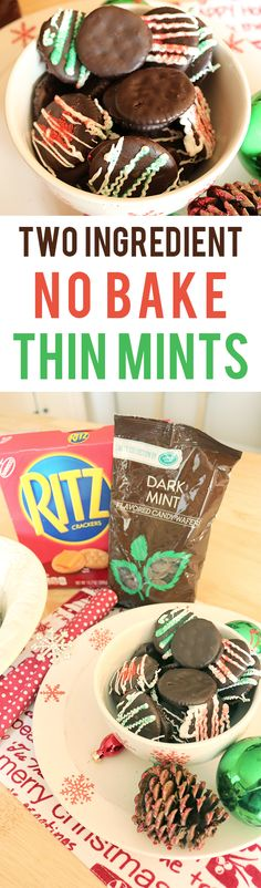 Do you LOVE thin mint cookies but aren't able to get your hands on them at the moment? Try this thin mint copy cat recipe that only requires 2 ingredients and is absolutely no bake!