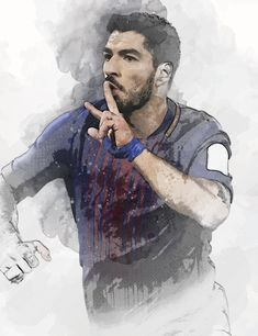 61 x Striker Luis Suárez on Museum-quality poster with vivid print made on thick and durable matte Football Wallpaper, Barcelona, Digital Art, Art Print, Trending Outfits, Poster, Etsy, Vintage, Uruguay