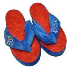 Kansas Jayhawks Slippers - Womens Thong Flip Flop (12 pc case)
