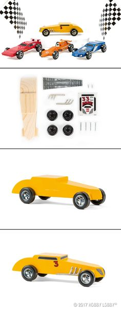 Combine your creativity with your passion for cars! These deluxe car kits feature a wood form with wheels and decals that will create a super cool car, in combination with your favorite acrylic derby paints. Hobbies For Men, Pinewood Derby, Little Man, Hobby Lobby, Gifts For Him, Your Favorite, Cool Cars, Car Kits, Artsy