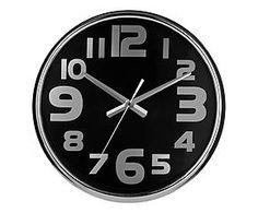 Horloge murale PAT Acier inoxydable et Chrome, Noir et argenté - Ø38