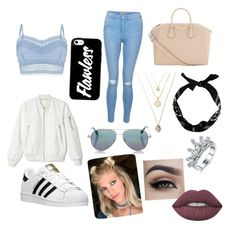 """""""Untitled #1"""" by scarlet-bamber ❤ liked on Polyvore featuring beauty, Lipsy, New Look, adidas, Givenchy, Cutler and Gross and Lime Crime"""