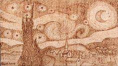 """La pirografia è un'antica forma d'arte che consiste nel disegnare con un ferro caldo su una superficie di legno o cuoio. A seconda della temperatura, della pressione e del tempo di posa del ferro sul supporto si possono realizzare tratti e sfumature più o meno intense. Il risultato è un disegno dalle calde sfumature di marrone. Gli strumenti per disegnare con il """"fuoco"""" si chiamano """"Pirografi"""" ed in commercio se ne trovano di vari tipi e prezzi. I più adatti sono quelli che permetto di…"""
