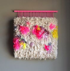 Woven wall hanging / Furry Little Treasures // by jujujust on Etsy