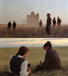 Days of heaven- Terrence Malick Cinema Movies, Movie Tv, Movie Scene, Martin Scorsese, Sam Shepard, Alfred Hitchcock, Richard Gere, Stanley Kubrick, Heaven Movie
