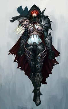 Sylvanas Windrunner mixed with Dablo III artwork. Can I just be you?