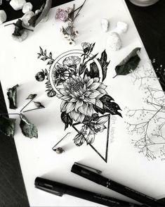 Flowers for Karina _________________________________ #dahlia #floraldesign #art_spotlight #arts_help #flowertattoo #onlyblackart #blxckink #illustration #flowertattoo #flowerillustration #floraldesign #worldofpencil #tattoopins #tattooidea #tattoosketches #tattoodesign #graphictattoo #iblackwork #blacktattoo #supportartists #darkartists #blacktattooart #geometrictattoo