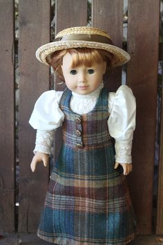 Anne of Avonlea walking suit and straw hat for AG by bobbyjosue on Etsy