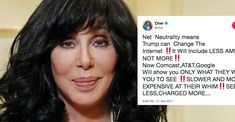 Cher summed up the outrage of the net neutrality repeal in one fiery, all-caps tweet. | Upworthy 11/27