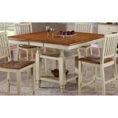Steve Silver Company Steve Silver Company Candice Counter Height Dining  Table With Butterfly Leaf In Oak And White   Home   Furniture   Dining U0026  Kitchen ...