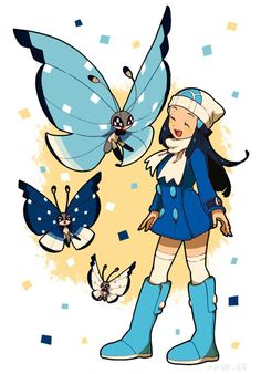 Vivillon and Pokémon Platinum Trainer
