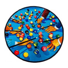 Round Rug Snooker - Seletti wears Toiletpaper round rug Material: Front Polyester, rear cotton and polyester Size: cm ø 194
