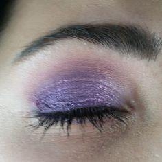 Make up viola e glitter