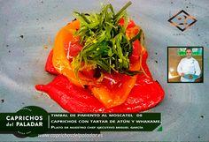 Hoy nuestro Chef Ejecutivo Miguel García Chef nos ha realizado un: TIMBAL DE PIMIENTOS AL MOSCATEL DE CAPRICHOS CON  TARTAR DE ATÚN Y WHAKAME ¿ APETECE?