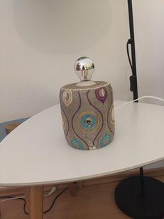 Ungewöhnlich Tischlampe im Used-Look im Stile der 70er Vase, Home Decor, Etsy, Barware, Flask, Etsy Seller