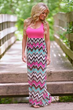 Bachelorette Maxi Dress - Hot Pink from Closet Candy Boutique