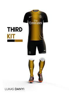 I designed football kits for Paris Saint-Germain for the upcoming season 16/17.