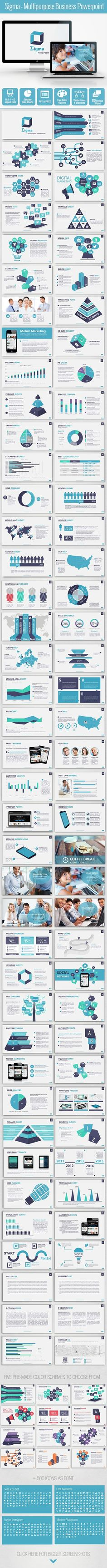 Sigma Multipurpose Business Powerpoint Template (PowerPoint Templates)