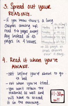Textbook Reading Advice