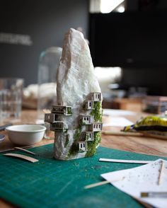 <p>Dutch artist Rosa de Jong have been working on her latest project, Micro Matter where she creates these tiny floating islands inside test tubes. You've probably heard of ships in bottles, but