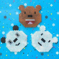 Perler Beads We Bare Bears Panda Grizz and Ice Bear