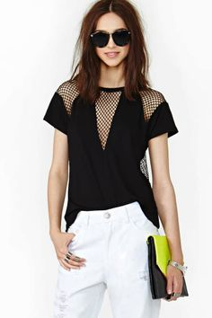 Scout Mesh Tee by Nasty Gal Moda Fashion, Sport Fashion, Womens Fashion, Chic Outfits, Fashion Outfits, Style Fashion, Look Star, Diy Clothing, Refashion