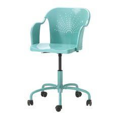 IKEA - ROBERGET, Otočná stolička, , Výškovo nastaviteľná stolička vám poskytne pohodlné sedenie.Tvarované operadlo a sedadlo vám zabezpečí väčšie pohodlie pri sedení.Kolieska sú pokryté gumou, preto jemne sa kĺžu na akejkoľvek podlahe.