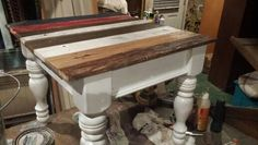 Pallet wood made side table