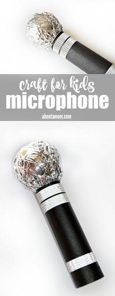 Fun microphone craft for kids.