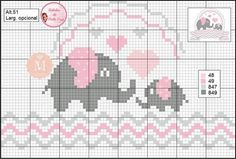 1 million+ Stunning Free Images to Use Anywhere Baby Cross Stitch Patterns, Cross Stitch Love, Cross Stitch Borders, Cross Stitch Designs, Cross Stitching, Cross Stitch Embroidery, Elephant Cross Stitch, Knitting Patterns, Crochet Patterns