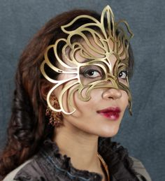 Leather mask in gold Decaflor by TomBanwell on Etsy, $45.00