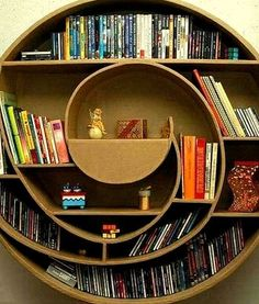 Spiral Bookshelf: I could stare at this all day and all I am thinking about is how much I want to go to the beach