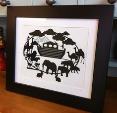 Noah's Ark - Paper cutting template. Personal use by TheCatsMotherDesigns on Etsy