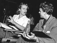 Carole Lombard and Robert Stack on the set of To Be or Not To Be, Carole's last film