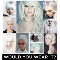 silver white hair I clean tones  1002 NUTRI COLOUR CREAM IS THE PRODUCT TO KEEP IT SILVER/WHITE  WWW.UKHAIRDRESSERS.COM